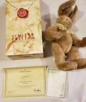 Rare Russ Berrie Limited Edition Easter Bunny Plush Bunnies from Past COA NIB 99