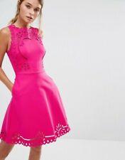 Ted Baker Pink Verony Skater Dress Size 2 (10)