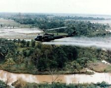 "Huey Helicopter Attack Squadron on Patrol 8""x 10"" Vietnam War Photo 283"
