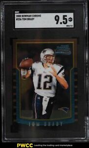 2000 Bowman Chrome Tom Brady ROOKIE RC #236 SGC 9.5 MINT+