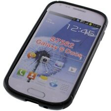 TPU Cover Case Hulle Hoesje Samsung Galaxy S Duos GT-S7562 Black Schwarz Zwart