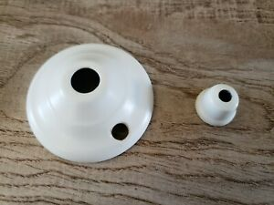 Harbor Breeze Ceiling Fan parts white end cap finial nut glass bowl light cover