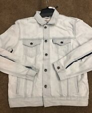 RARE Levi's Made & Crafted Type 3 Trucker Jacket Sz L Bleached Denim White $228
