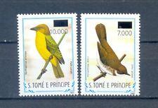 SAO TOME AND PRINCIPE  2 STAMPS OVERPRINT  BIRDS    MNH