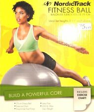 "NordicTrack Fitness Ball 75cm for Heights 5' 11"" & Above - Ball, Chart, Pump NIB"