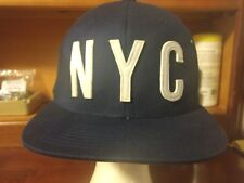 Aeropostale NYC Navy Blue Embroidered Cap Size Large / XL Flexfit