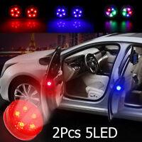 New 2pcs Universal Car Door LED Opening Warning Lamp Safely Flash Signal Light
