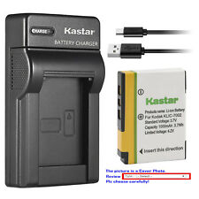 Kastar Battery Slim USB Charger for Kodak KLIC-7002 K7002 & Kodak EasyShare V530