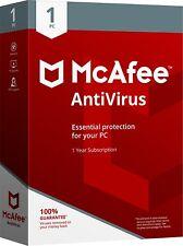 McAfee AntiVirus 2018 1 PC / Geräte / 1 Jahr Vollversion
