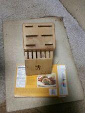 New listing J A Henkels International Knife Block 12 Slots Light Wood; #936