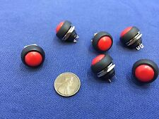 6 Pieces N/O  12mm Round Momentary Push Button Switch 3A 250VAC A3