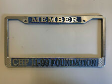 11-99 FOUNDATION LICENSE PLATE FRAME  *AUTHENTIC*