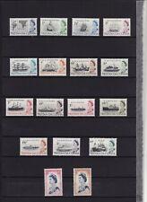 TRISTAN DA CUNHA - 1965-67 DEFINITIVES SET 17 LIGHTLY MOUNTED MINT