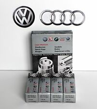 SET OF 4PC VOLKSWAGEN AUDI OEM PFR7S8EG LASER DOUBLE PLATINUM SPARK PLUGS