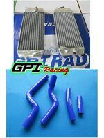 FOR Yamaha YZF250 YZ 250F YZ250F 2007 2008 2009 radiator and blue hose