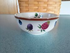 Longaberger Pottery Dessert bowl Berry pattern New no box Desserts, soups, salad