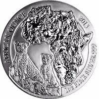 Ruanda 50 Franc 2013 Gepard Stempelglanz 1 Oz Silbermünze