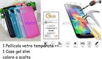 Custodia per WIKO SUNNY 2 II PLUS Cover GEL silicone + PELLICOLA vetro TEMPERATO
