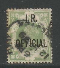 Great Britain 1889 Queen Victoria 1sh green I.R. Official (O12) used