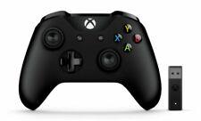 Microsoft Xbox Mando con Adaptador Inalámbrico para Windows PC/Xbox One - Negro (4N7-00002)