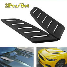 ABS Plastic Car Air Flow Intake Hood Scoop Vent Louver Panel Bonnet Cover Decor