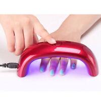 tragbare 9W LED CCFL Nagel Trockner Lampe Heilungsmaschine UV-Gel Nail Polish DE