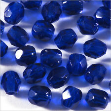 Facettes de Bohème 4mm Cobalt Lot de 50 perles