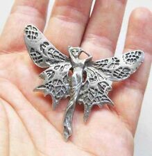 Fairy Art Nouveau brooch fairy pin from a vintage jewelry design