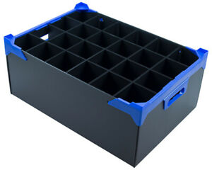 Glassware Storage Box / Wine Glass Boxes - 24 Cells - Cell Size H190 x D78mm