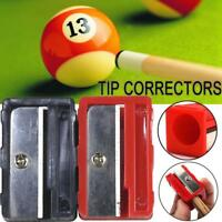 Cue Tip Shaper Corrector Billiard Pool Snooker Table Planer Tools Black Red New