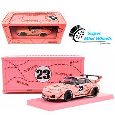 Tarmac Works Porsche Rwb 993 Sopranos with Container (Pink Pig) 1:64