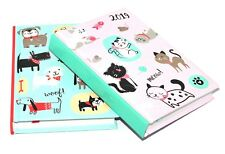 1 X A6 2019 One Day to Page Page Calendar Appointment Diary Hardback Cover Multi