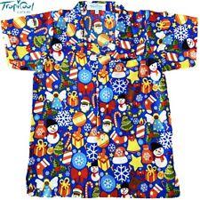 Christmas Celebrations Blue Boys Hawaiian Shirts