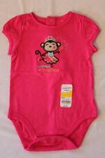 NEW Baby Girls 24 Mo Bodysuit Pink Cotton Creeper Mommy's Princess Monkey Outfit