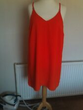 ladies orange lined shift dress from New Look size 18 in great condition