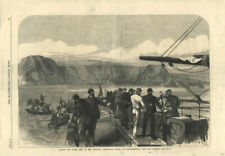 Laying the Atlantic Telegraph Cable, Foilhommerum, Valentia island. Ireland 1866