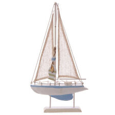 Nautical Wooden Sail Boat Decoration 40 x 22cm Ornament
