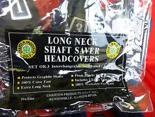 New listing Long Neck Shaft Saver Head Covers Pro Tour Navy Blue Charter Products 3 Piece