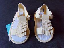 Monsoon Open Toe Single Rip-Tape Strap Sandals 12-18m Yellow BNWT