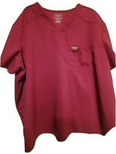 """Cherokee Authentic Workwear 3X-Wine/Maroon w/1 chest pocket-Chest 30.5""""/L 30"""""""