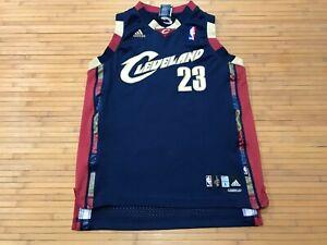 BOYS LARGE (14-16) - Vtg NBA Cleveland Cavaliers #23 James adidas Sewn Jersey