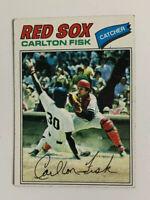 1977 Carlton Fisk # 640 Topps Baseball Card Boston Red Sox HOF