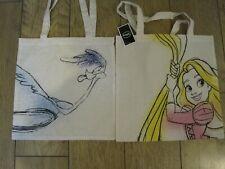 "2 Disney Canvas Bags   Rapunsal & Jungle Book 15"" x 14"""