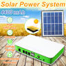 Solar Panel Power Generator Light USB Charger Home System Outdoor+Dual LED
