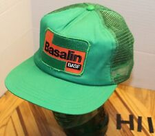 VINTAGE BASF BASALIN SOY BEANS TRUCKERS HAT GREEN SNAPBACK EMBROIDERED EUC H11