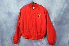 Vintage Red West Berlin Jacket Germany Cold War World War Nylon Bomber Jacket