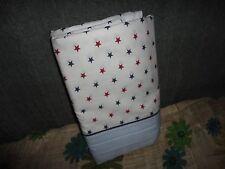 TOMMY HILFIGER UNION STARS STRIPES RED BLUE (1) FULL FLAT SHEET 74 X 90