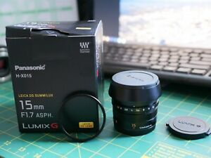 Panasonic Lumix G Leica DG Summilux 15mm F/1.7 Asph. Lens Black AU