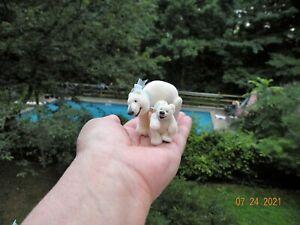 OOAK Miniature Artist Polar Bear & Baby w/open mouth by April Whitcomb Gustafson