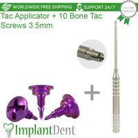 10 Bone Tac Screws 3.5mm + Applicator Guided Bone Regeneration Dental GBR System